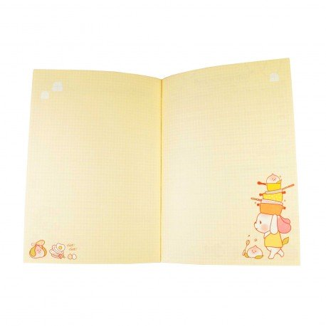 Agenda planner planificateur sans date kawaii Peach Dog 4