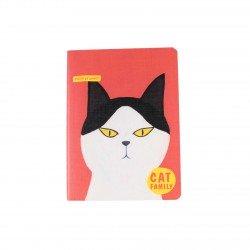 Carnet kawaii - Cat family chat bicolore