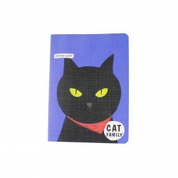 Carnet kawaii - Cat family chat noir