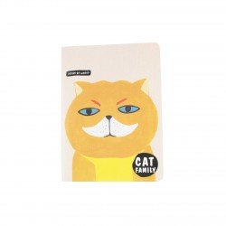 Carnet kawaii - Cat family chat moustachu