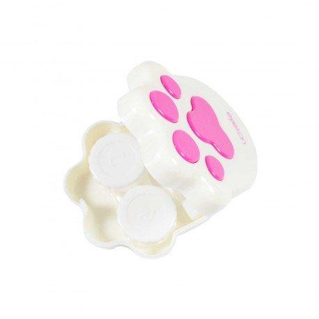 Boite kawaii à lentilles de contact Patte de chat blanc