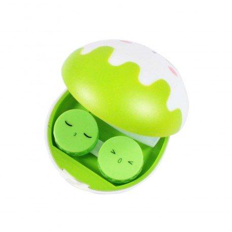 Boite à lentilles de contact Oeuf vert kawaii