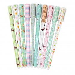 Kit 10 stylos à encre gel couleurs Printemps et foret
