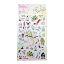 Sticker - Flower and bird