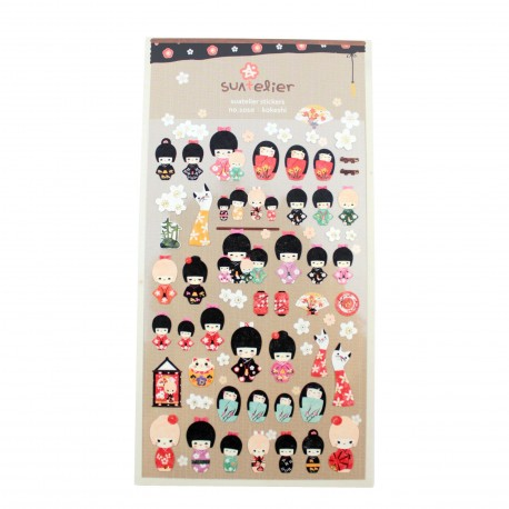 Sticker - Kokeshi doll