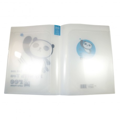 Protège documents kawaii A4 Super Panda bleu