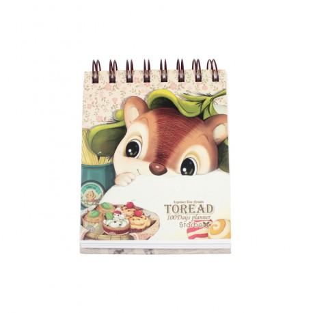 Carnet planner planificateur 100 jours kawaii écureuil