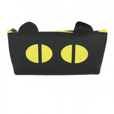 Trousse chat noir - yeux jaune