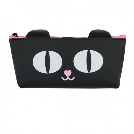 Trousse chat noir - nez rose