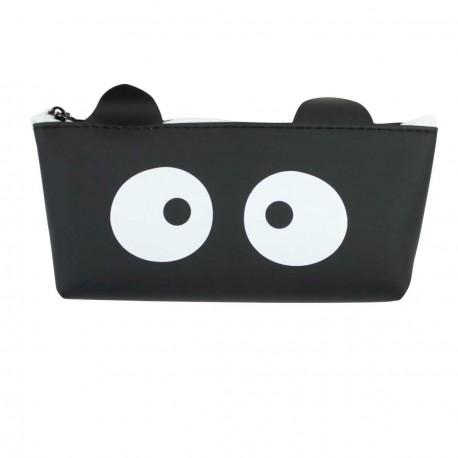 Trousse chat noir - grands yeux