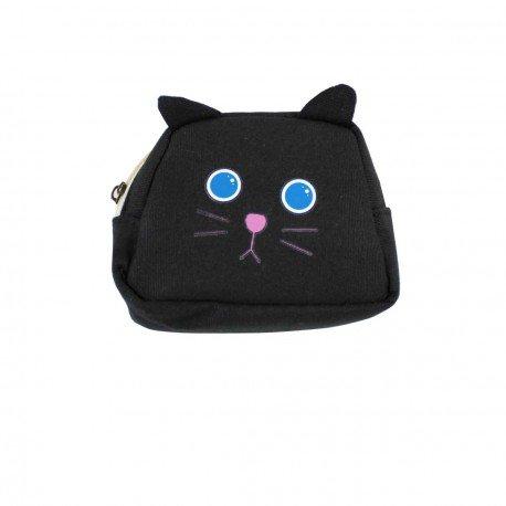 Porte monnaie chat noir