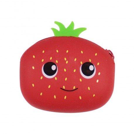 Porte monnaie zipe fraise manga