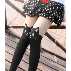 Collant kawaii neko chat noir mignon