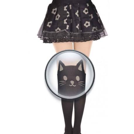 Collant kawaii neko chat noir mignon