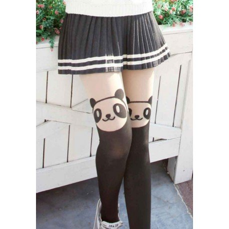 Collant kawaii panda mignon