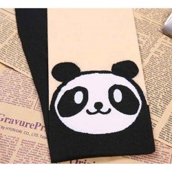 Collant kawaii panda visage blanc