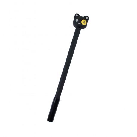 Stylo kawaii Chat noir et l'oeil jaune