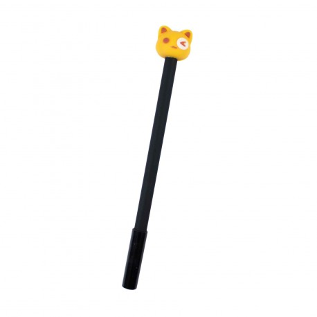 Stylo kawaii Chat jaune
