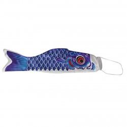 Koinobori drapeau poisson carpe bleu