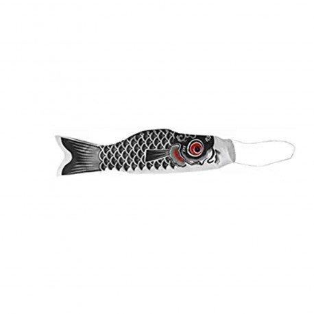 Koinobori drapeau poisson carpe noir
