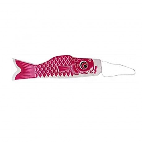 Koinobori drapeau poisson carpe rose