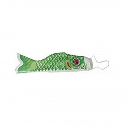 Koinobori drapeau poisson carpe vert