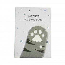 Memo repositionnable patte de chat gris