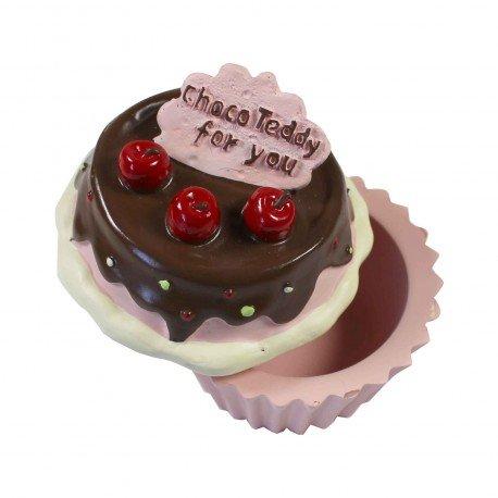 Boîte à bijoux kawaii en forme de cupcake rose