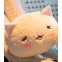 Peluche bouille de lapin kawaii yeux fermés
