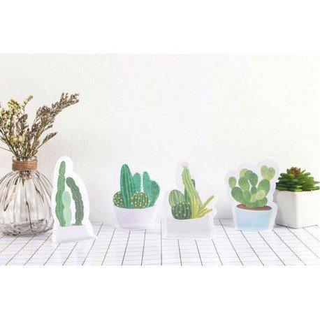 Memo repositionnable Cactus et son pot rose
