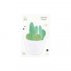 Memo repositionnable Cactus et son pot rose