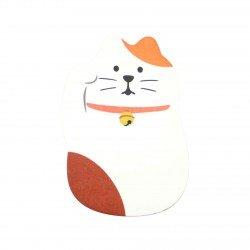 Memo repositionnable Chat orange