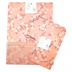 Grand papier à lettre & enveloppe assorti Japon fleur de cerisier