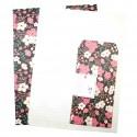 Grand papier à lettre & enveloppe assorti Japon fleur de prunier japonais