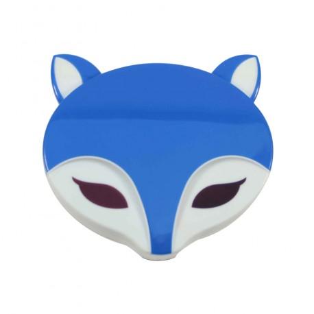 Boite à lentilles de contact Renard bleu