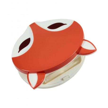 Boite à lentilles de contact Renard roux