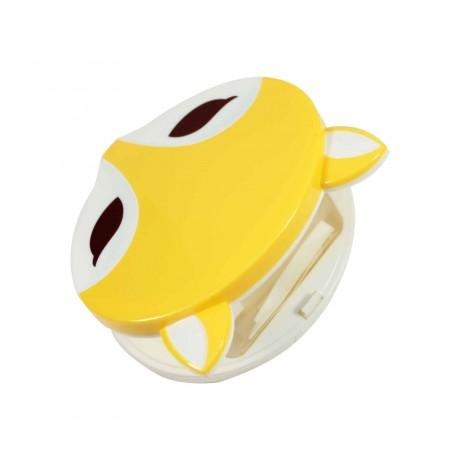 Boite à lentilles de contact Renard jaune