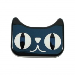 Boite à lentilles de contact chat noir
