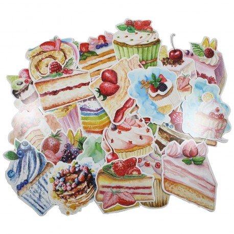 Lot de 5 cartes postales - desserts
