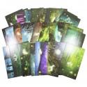 Lot de 5 cartes postales - biches dans les forets
