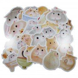 Lot de 5 cartes postales - Hamster