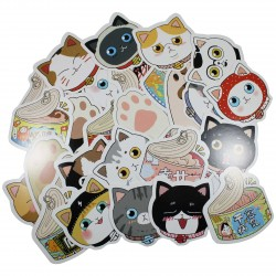 Lot de 5 cartes postales - Chat et nourriture