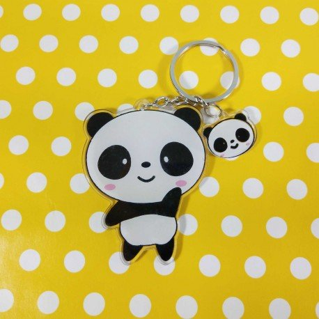 un porte cl s kawaii mignon panda d bout avec anneau. Black Bedroom Furniture Sets. Home Design Ideas