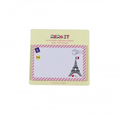 Bloc notes repositionnables Memo Paris Tour Eiffel et drapeau tricolore