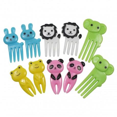 Lot de 10 mini fourchettes piques à apéritif