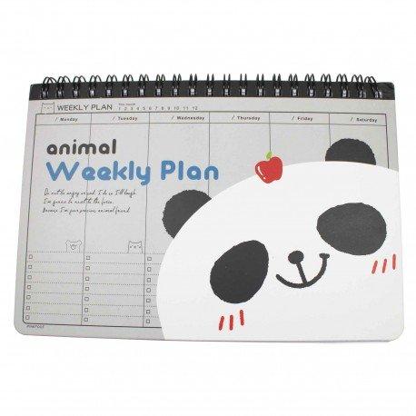 Agenda semainier kawaii Panda