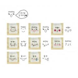 Kit de 8 mini tampons kawaii emoji