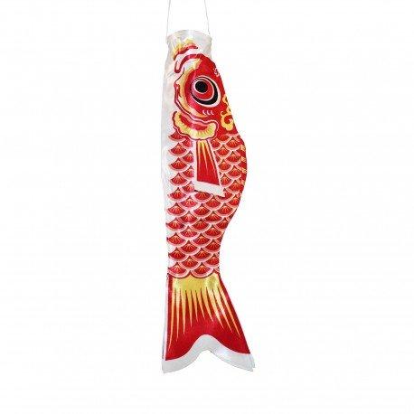 Koinobori drapeau poisson carpe rouge