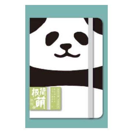 Carnet épais kawaii panda avec élastique