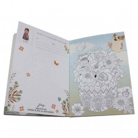 Carnet coloriage format carte postale